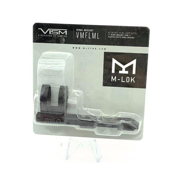 "VISM VMFLML M-Lok Slots 1"" Ring Mount for 1"" Flashlights and Lasers, New"