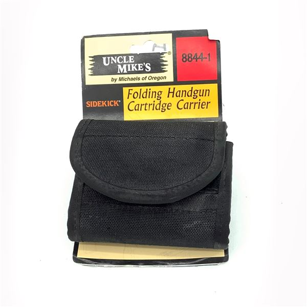 Uncle Mike's 8844-1 Folding Handgun Cartridge Carrier, Blk, New