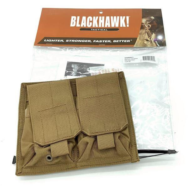 BlackHawk 52HB00CT AR-15 / M16 Belt Mounted Double Magazine Pouch, CT, New