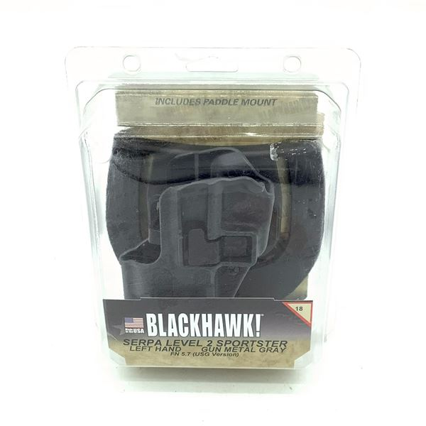 BlackHawk 413518BK-L LH Serpa LVL 2 Sportster FN 5.7 Holster, New