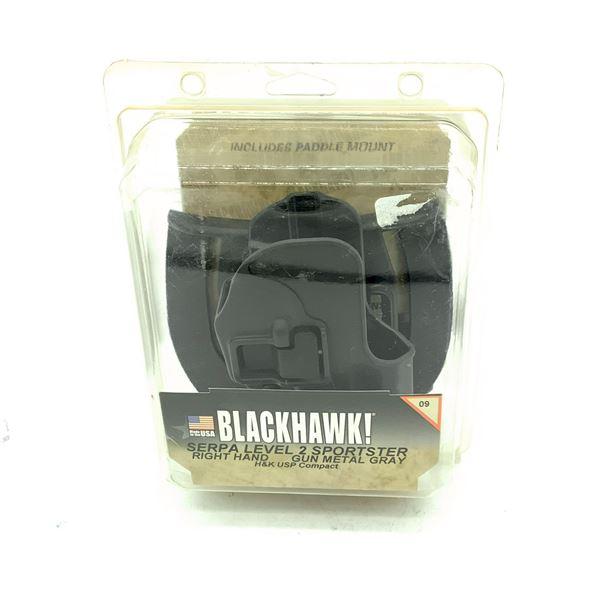 BlackHawk 413509BK-R Serpa Sportster H & K USP Compact 9mm / 40 Cal Holster, Black, New