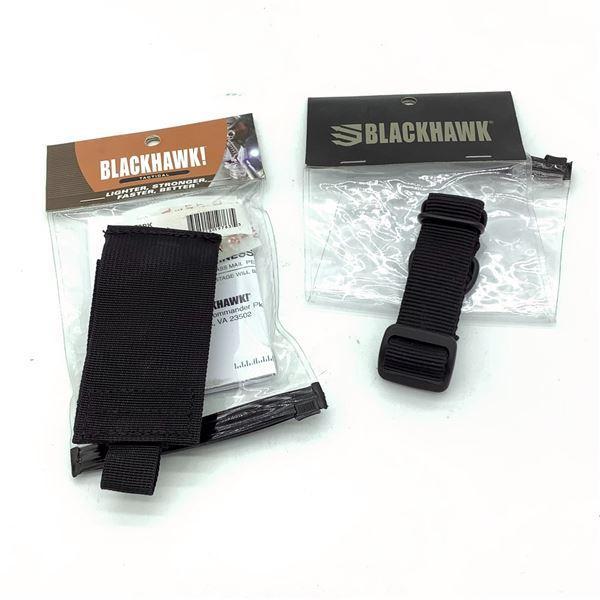 BlackHawk 37CL79BK Strike Watch Holder and 70SA00BK Single Point Sling Adapter, New