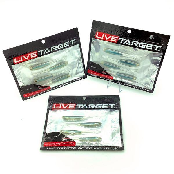 "3x Live Target 3-3/4"" Ghost Tail Minnow"