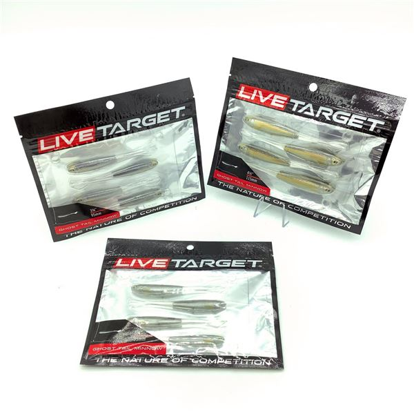 Assorted Live Target Ghost Tail Minnow