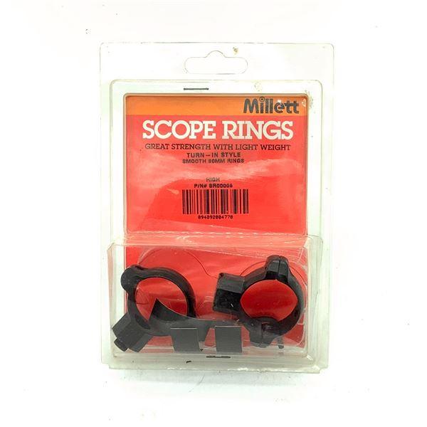 Millett Scope Rings, 30mm, High, New