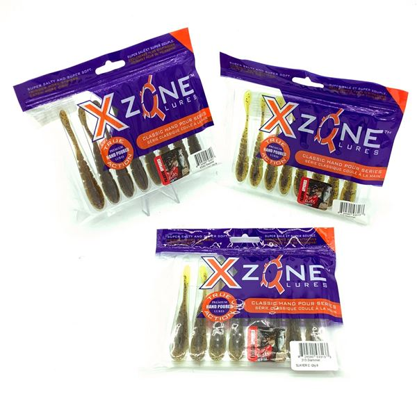 Assorted XZone Lures Classic Series, 8 Pack, New X 3