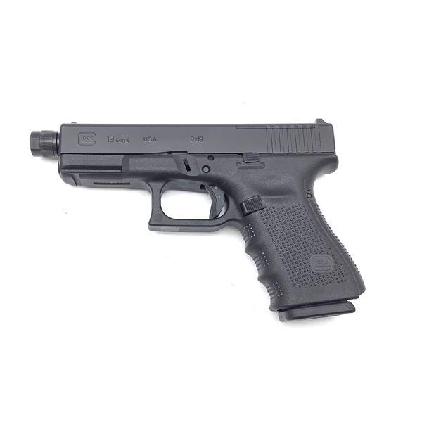 Glock 19 Gen 4, Optic Ready 9MM Semi Auto Pistol, New Restricted
