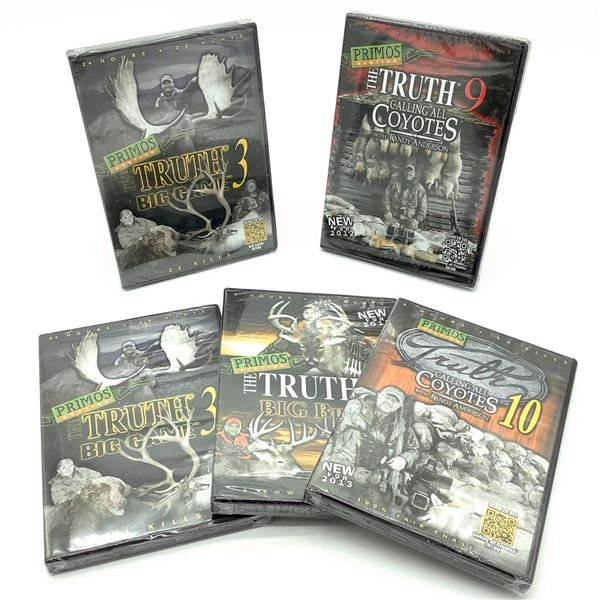 5 x Assorted Primos Hunting DVD's, New