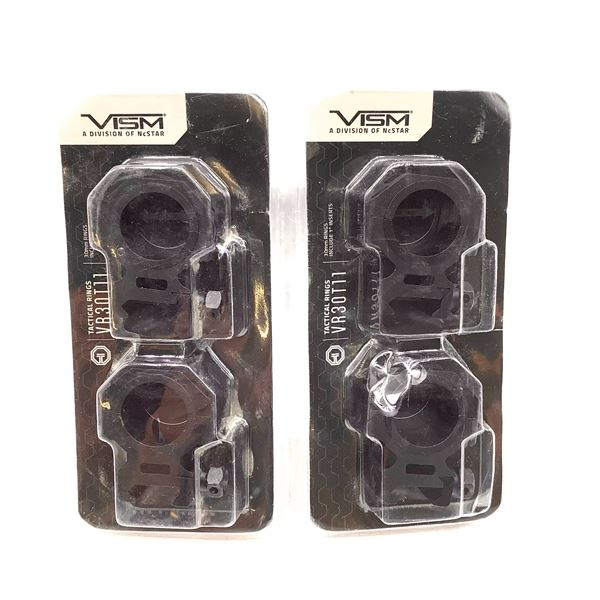 2x Vism 30mm Tactical Rings, New