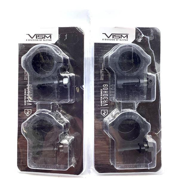 2x Vism 30mm Hunter Rings, New