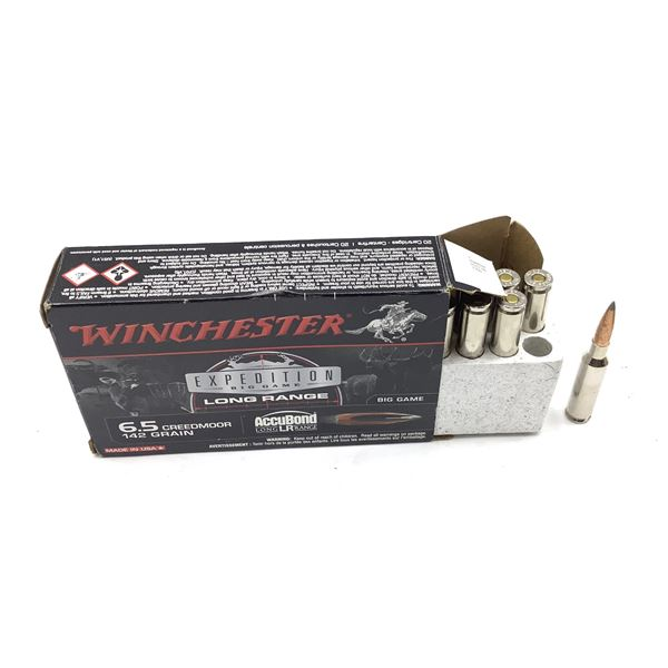 Winchester 6.5 Creedmore Ammunition, 20 Rounds