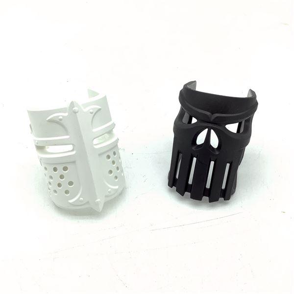 Fab Defense Mojo Replacement Cover X 2, BLK Vigilante and WHT Cavalier