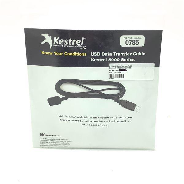 Kestrelmeters 0785 USB Data Transfer Cable, 5000 Series, New