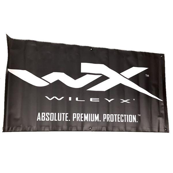 "Wiley X Banner, 47"" X 24"", Black"