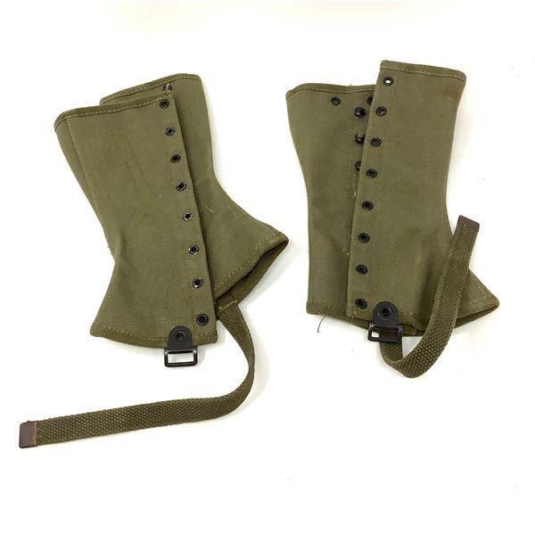 British Military Leggings M1938 Canvas IR, Pair