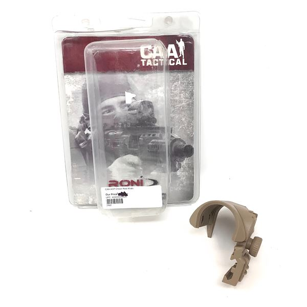CAA Tactical CP16 ACP Picatinny Fit, Adjustable Cheek Rest (Up to 2.4cm Rise), FDE, New