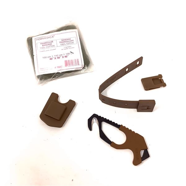 Triangular Bandage and Gerber Strap Cutter, CT