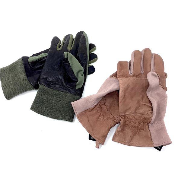Combat Gloves, Pair Medium and Combat Gloves, Large, Tan