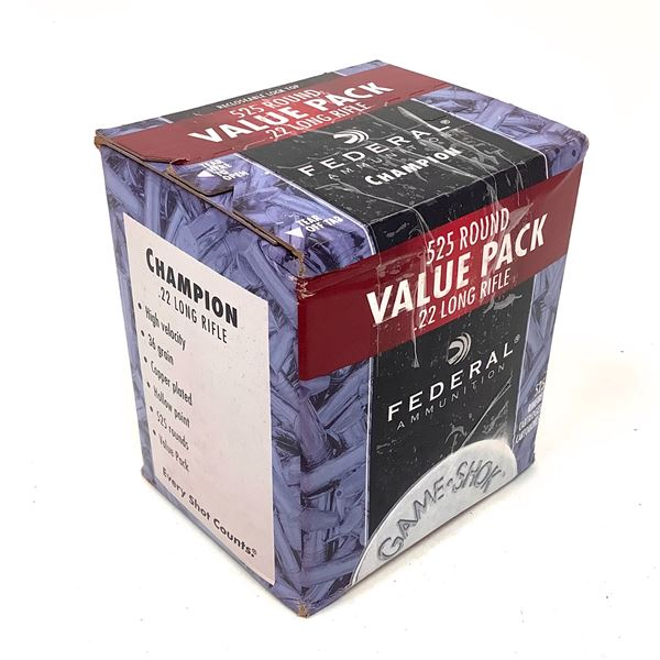 Federal Champion 22LR 36 Grain CPHP Ammunition, Approx 525 Rounds