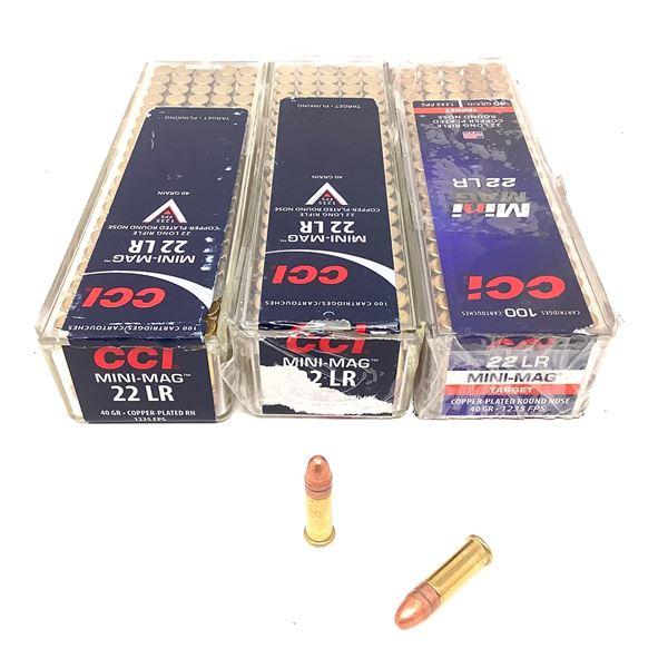 CCI Mini Mag 22 LR 40 Grain Ammunition, 300 Rounds