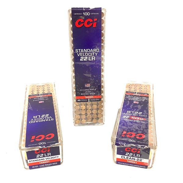 Assorted CCI 22 LR 40 Grain Ammunition, 300 Rounds
