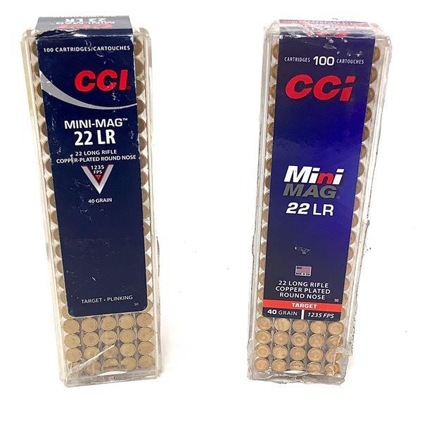CCI Mini Mag 22 LR 40 Grain Ammunition, 200 Rounds