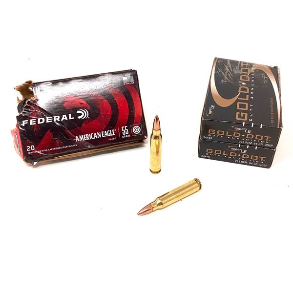 Assorted 223 Rem Ammunition, 78 Rounds