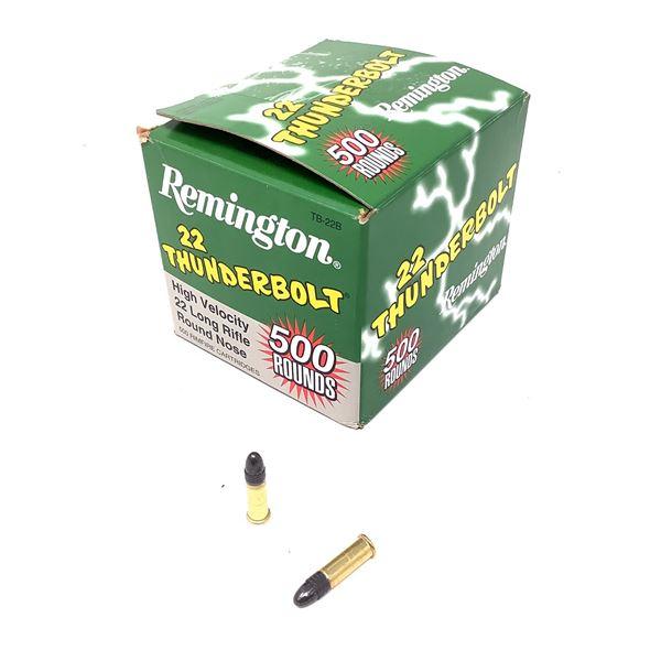 Remington Thunderbolt HV TB22B 22 LR Ammunition, 500 Rounds