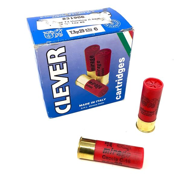 """Clever Mirage Lead 16 Ga 2 3/4"""" #6 Ammunition, 24 Rounds"""