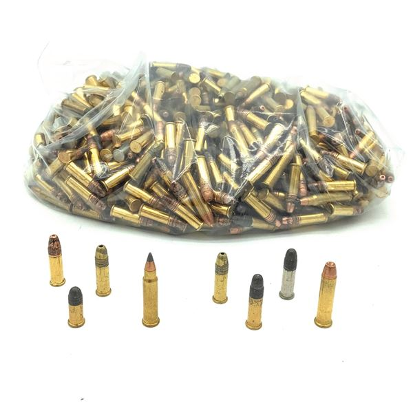 Loose Assorted Rimfire Ammunition, Mostly 22 LR, Approx 600 Rounds