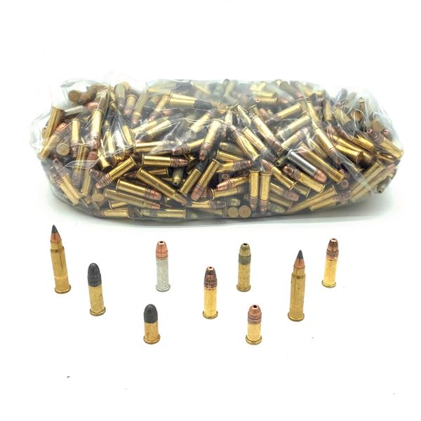 Loose Assorted Rimfire Ammunition, Mostly 22 LR and 17 HMR, Approx 600 Rounds