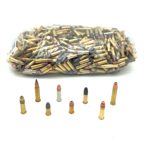 Loose Assorted Rimfire Ammunition, Mostly 22 LR and 22 Short, Approx 600 Rounds