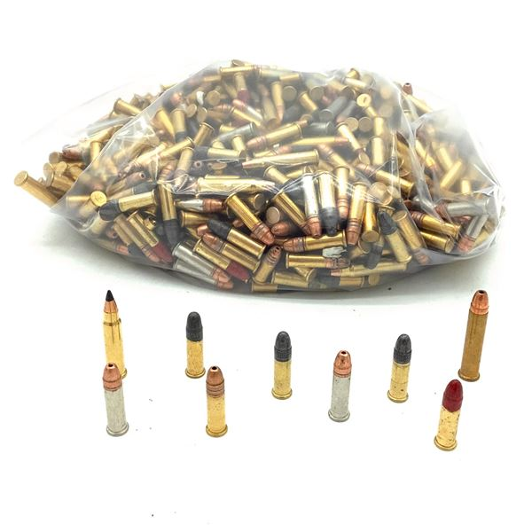 Loose Assorted Rimfire Ammunition, Has a lot of 17 HMR, Approx 600 Rounds