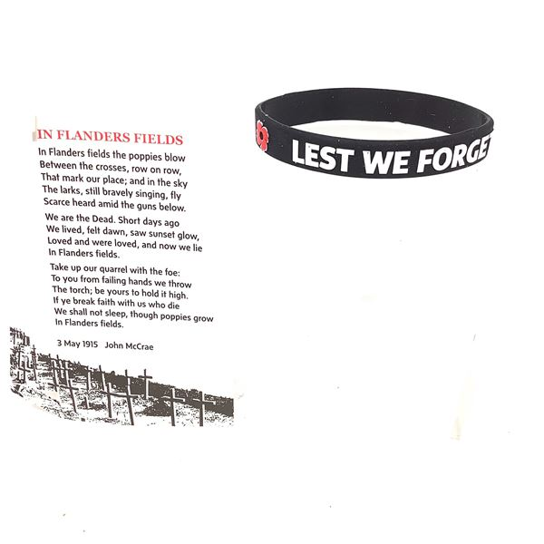 Legion Remembrance Day Wrist Band, New