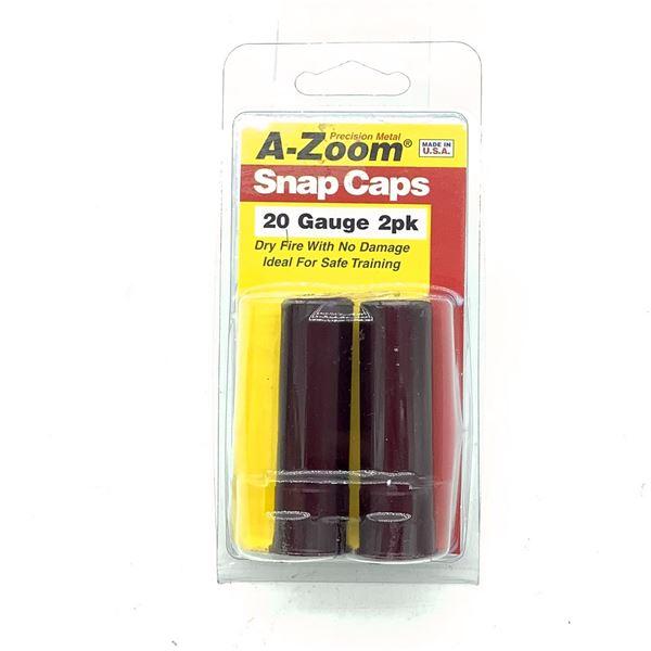 A-Zoom 20 Ga Snap Caps 2 Pk, New