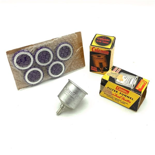 Coleman Fuel Funnels with Filters X 3 and Fuel Filters X 5