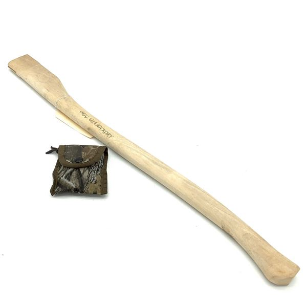 """Replacement Prandi Hickory Axe Handle 31"""" with Shim"""