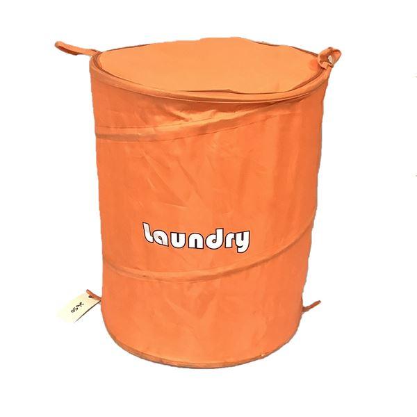 Collapsible Camping Clothing Hamper, Orange