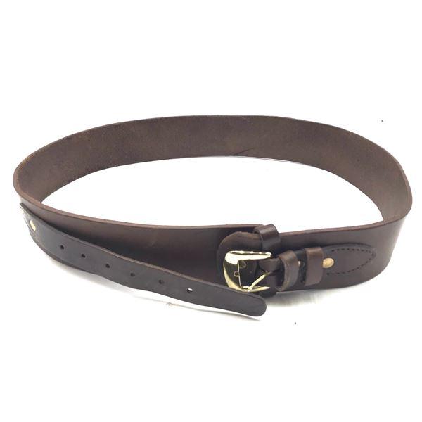 Western Style Leather Gun Belt, Size 40