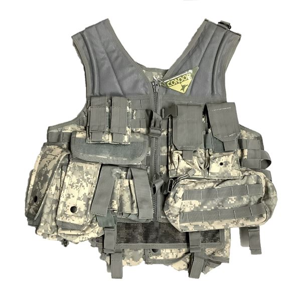 Condor Tac Vest With 8 Pouches, New