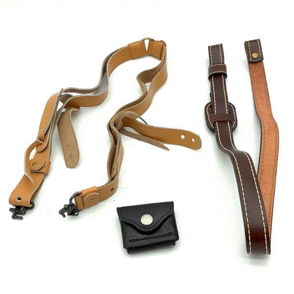 Assorted Leather Slings X 2, Bianchi Leather Magazine Case