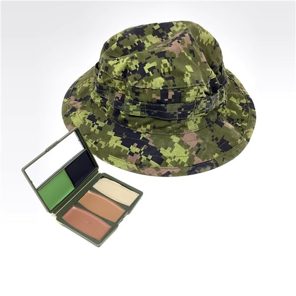 Boonie Hat, Camo, Large and Face Paint