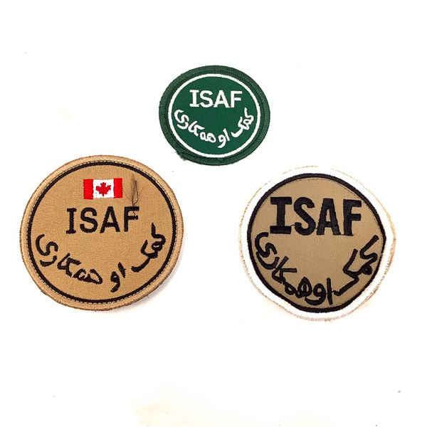 ISAF Patches X 3