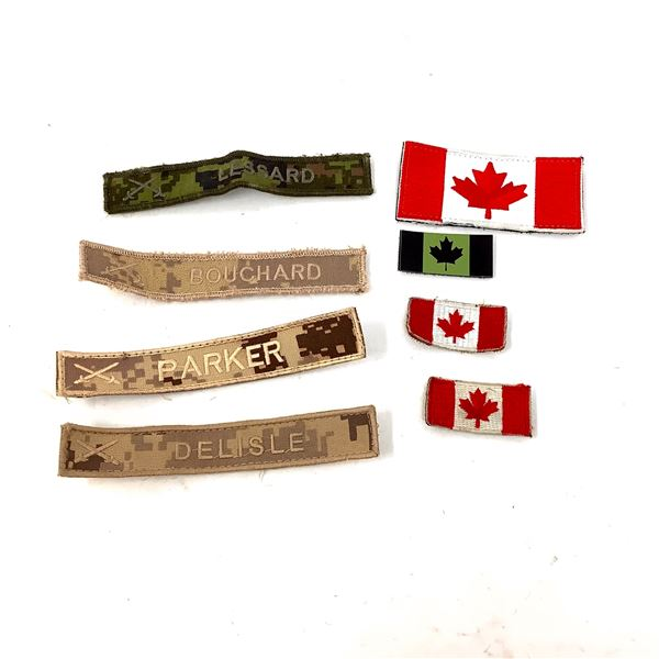 Name and Flag Patches X 8