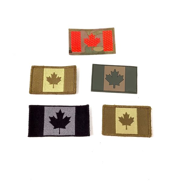 Canada Flag Patches X 5