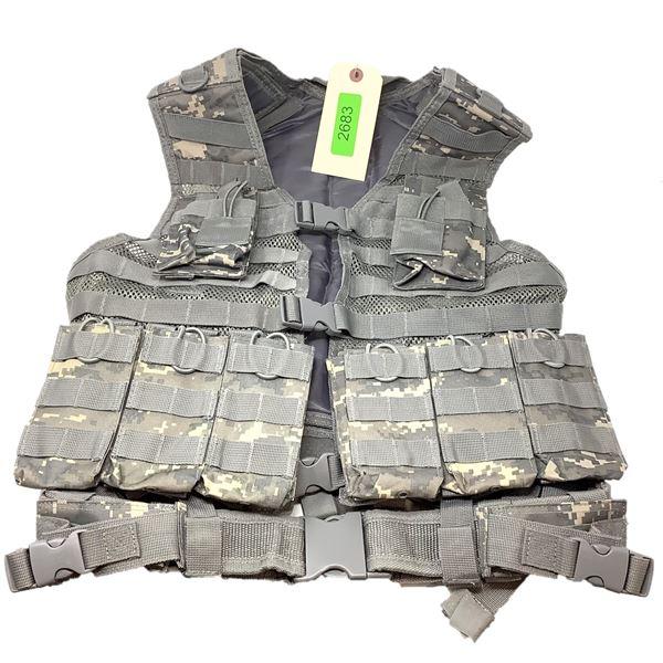 NCStar Tactical Vest, Digital Camo, New
