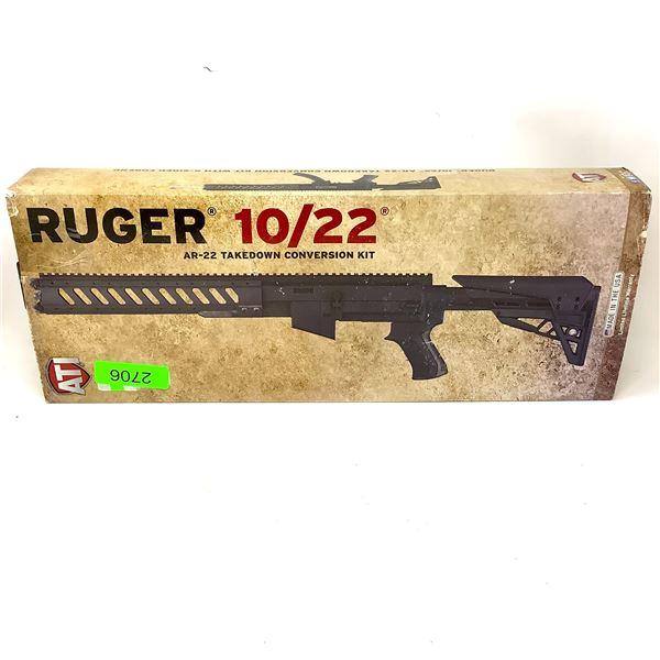 ATI Ruger 10/22 AR22 Takedown Conversion Kit, Black, New