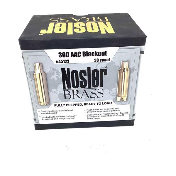 Nosler Brass 300 AAC Blackout, 50 Count