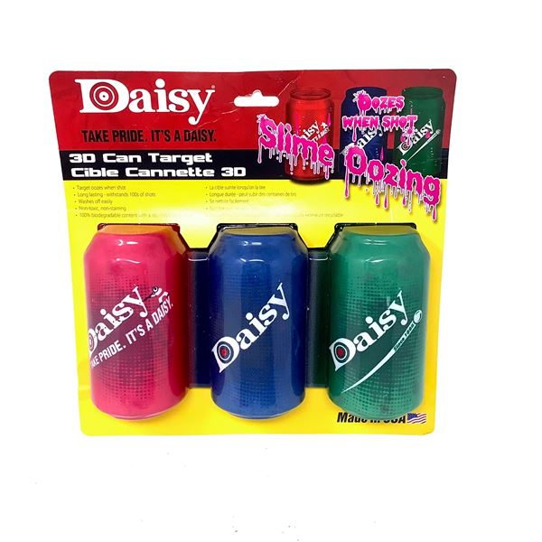 Daisy 3D Can Target, Slime Oozing, New