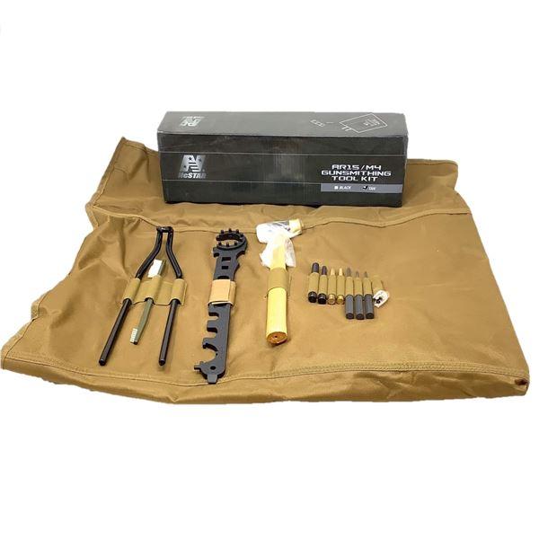 NcStar AR15/ M4 Gunsmithing Tool Kit in Tan, New